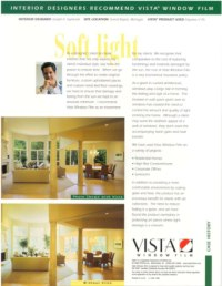 Soften natural room lighting with window film